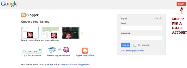 Cómo crear un sitio web gratuito en BlogSpot