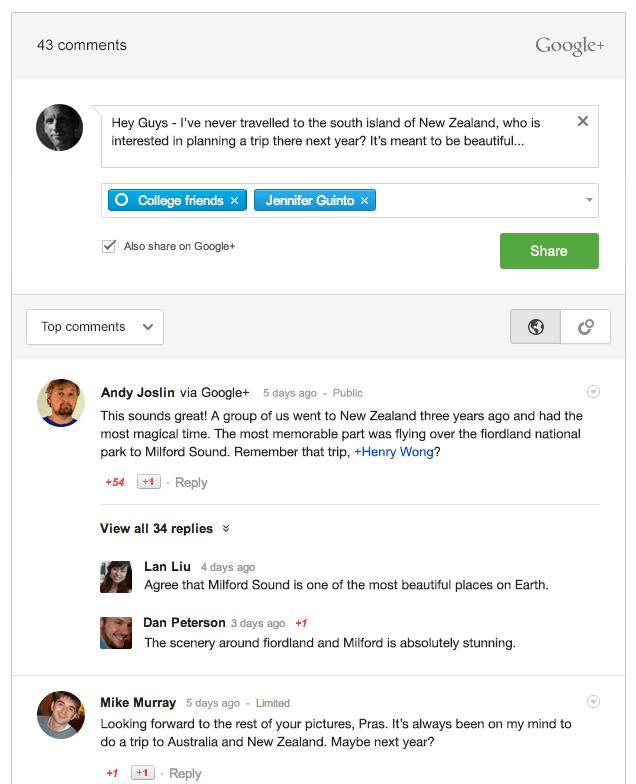 Cómo añadir comentarios de Google+ en WordPress