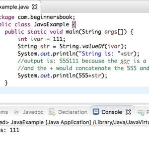 Conversión de Java int a String con ejemplos
