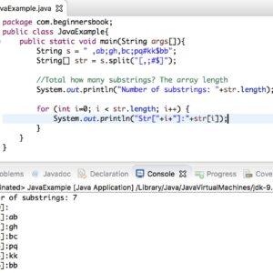 Java String split() Método con ejemplos