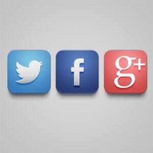 Crea el icono de Twitter, Facebook y Google plus con Photoshop