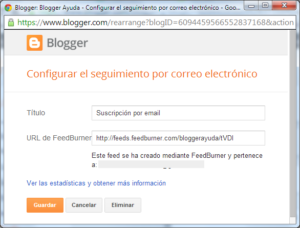 cómo añadir la suscripción de correo electrónico de feedburner al blog de wordpress