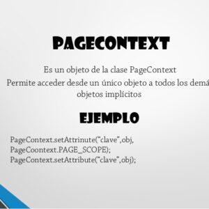 Contexto Objeto implícito en el JSP con ejemplos