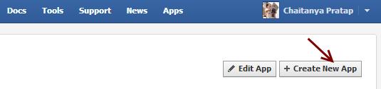 Crear nueva aplicación de Facebook