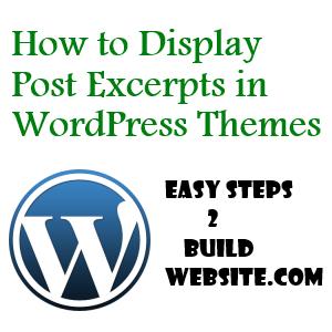 añadir extractos del post en WordPress