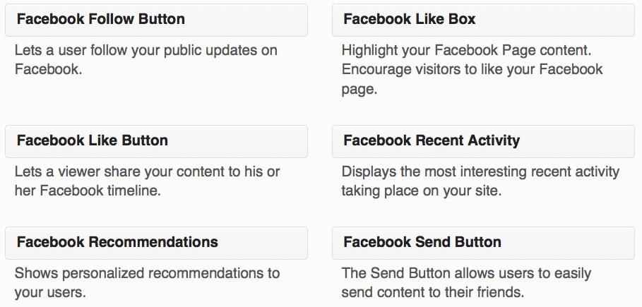 Widget de Facebook like box/Fan box
