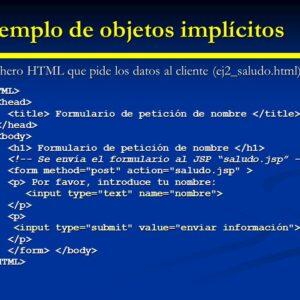 FUERA Objeto implícito en el JSP con ejemplos