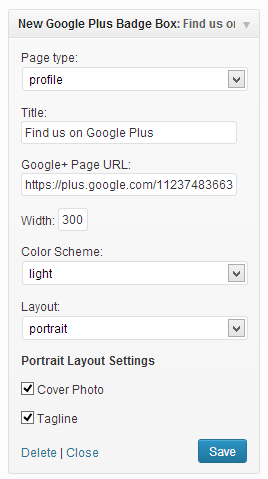 Nuevo complemento de wordpress para el widget de Google+ badge