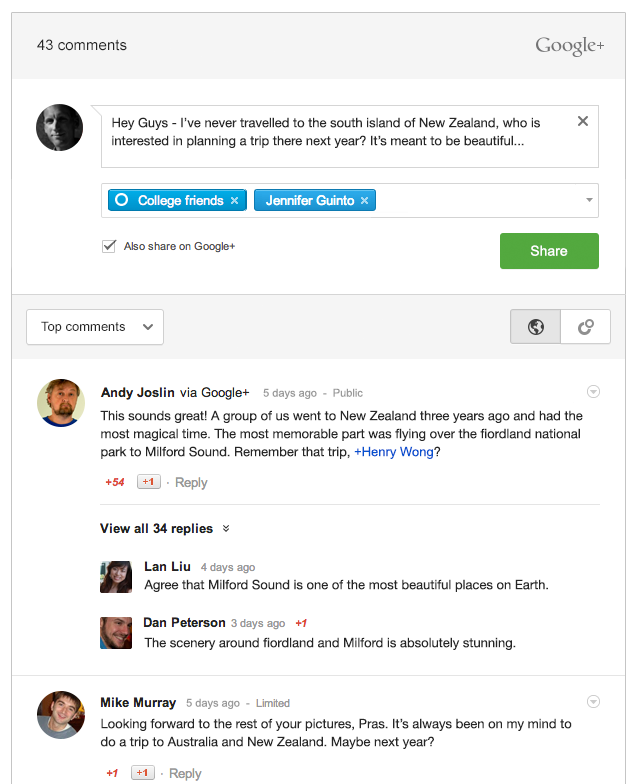 Añadir comentarios de Google+ en WordPress
