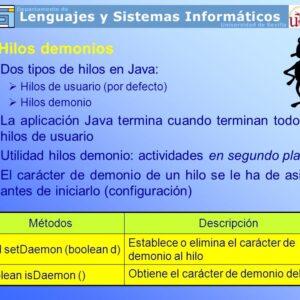 Hilo de demonio en Java con ejemplo