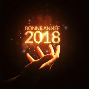 Montaje fotográfico Feliz año nuevo 2018