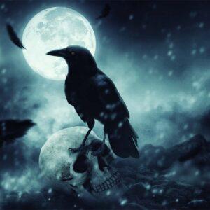 Fotomanipulación el cuervo de la muerte