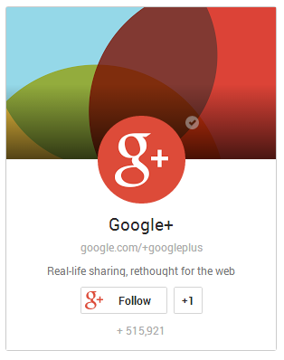 diseño de retrato Google plus badge