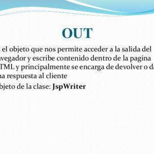 Respuesta Objeto implícito en el JSP con ejemplos