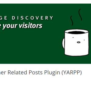 Otro plugin de posts relacionados (YARPP) para WordPress