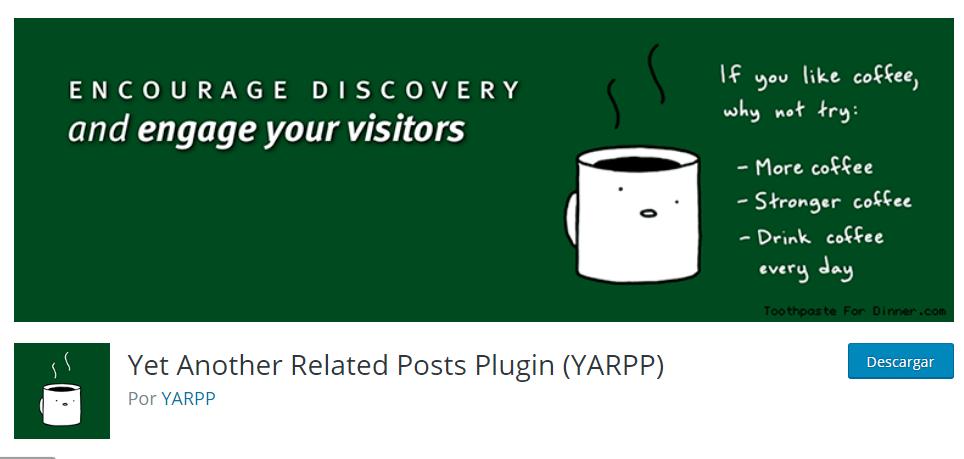 Otro plugin de posts relacionados (YARPP) para WordPress